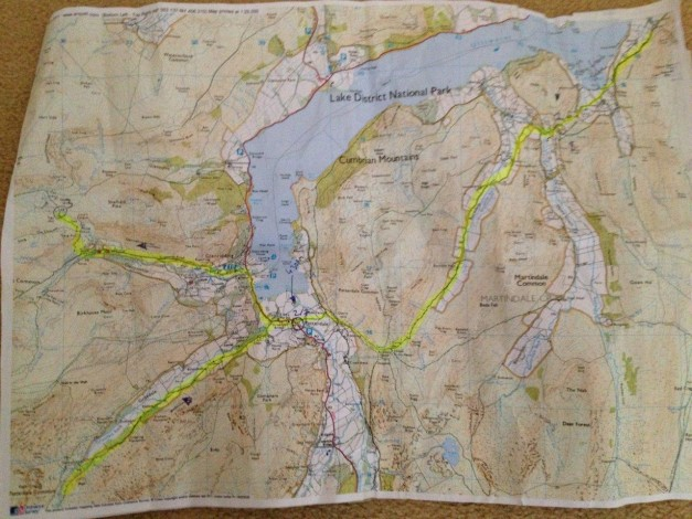 TDH from east to west and north of Helvellyn (MAP 2)