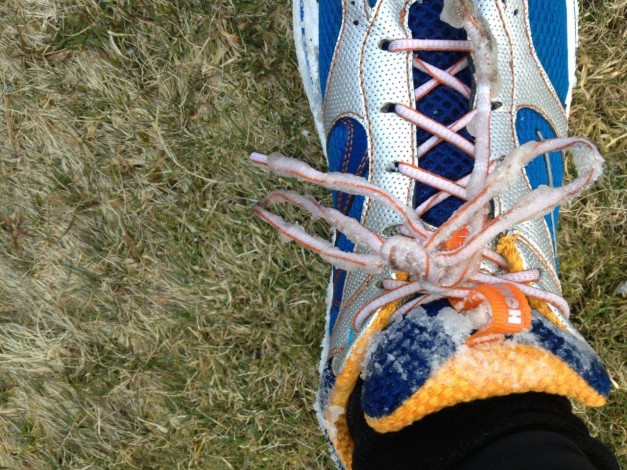 Hoka Ones Frozen Laces