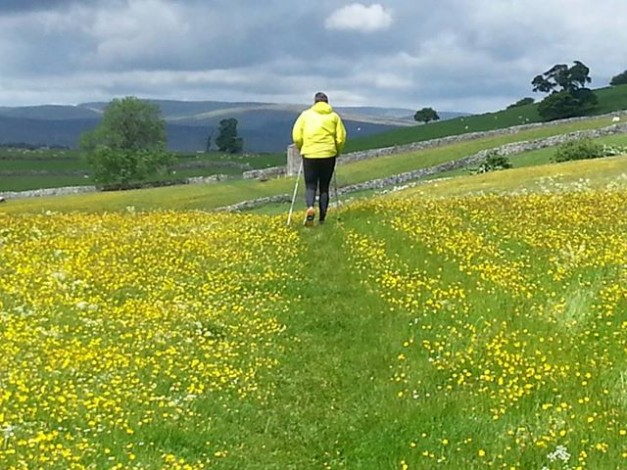 Across the fields passed Orton with Alan Hartley and Ruth - Photo Ruth Johnson