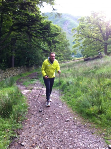Running along Haweswater - Photo Lisa